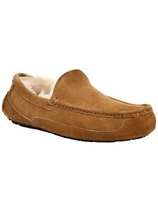 Ugg Australia Mens Ascot Suede Closed Toe Slip On Slippers, Chestnut, Size 12.0