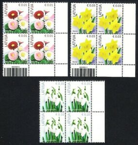 Latvia 2020 (Reprint) Definitive - Flowers - Marigold, Narcissus, White snowdrop
