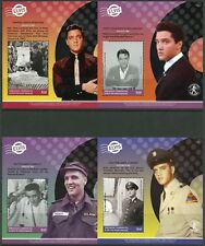 GRE, GRENADINES 2017 ELVIS PRESLEY SET OF FOUR SOUVENIR SHEETS MINT NEVE  HINGED