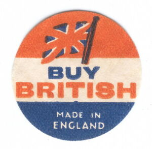 U, Buy British, Made in England, Propaganda, Poster stamp, Vignete, Cinderella