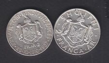 1935+1937 Albania.2x2FR.AR. Silver coin 2x10gr Rare.  See the Picture.   215