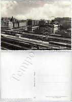 Cartolina di Genova, stazione della ferrovia di Brignole