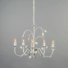 LAMPADARIO BIANCO MODERNO PER LAMPADE A BASSO CONSUMO O AL LED 5 LUCI ART.B9