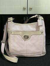 COACH 16533 PENELOPE Hippie Pale Pink crossbody with SNAKESKIN embossed tan trim