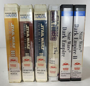 STAR WARS LOT OF 6 Audiobooks CDs Fate Of The Jedi Dark Empire Retired Library