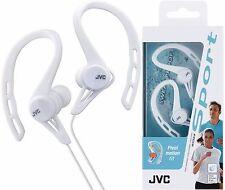 JVC HA-ECX20 Bianco Sport SPLASH-PROOF IN-EAR EAR-CLIP CUFFIE/Nuovo di Zecca