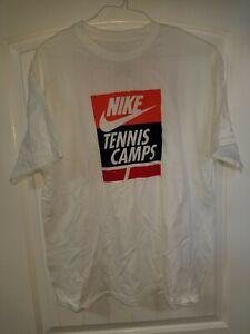 Nike Staff Tennis Camp XL White Tshirt NEW