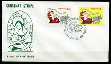 Philippines, 1982, Scott # 1616 & 1617, First Day Cover, Christmas Stamps