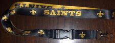 NFL New Orleans Saints Football Breakaway Lanyard New NFL Clip Detachable ID