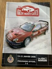 WRC 2006 RALLY MONTE CARLO 19-22 JANUARY OFFICIAL PROGRAMME  RALLY MEMORABILIA