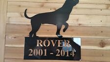 """20"""" Pet Grave Sign Yard Sign- Your Pets Name. Made In Waco Tx Cnc Wall Art"""
