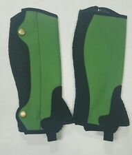 New Horse riding Amara Chaps Green and Black Size X Small