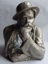 Big Russian Soviet writer playwright M.GORKY statue sculpture bust sc.Torich