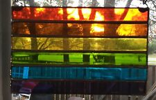 RAINBOW Pride Flag Done In Stained Glass. (002)
