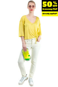 RRP €170 CAMBIO Jeans Size 38 / M Stretch Garment Dye Logo Zip Fly Mid Waist
