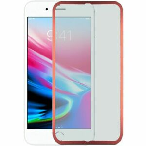 Apple iPhone 8/7/6S/6 - Zinc Alloy Full Edged Tempered Glass - Red