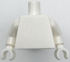 Lego New White Minifig Torso Plain Monochrome Same Color Arms Same Color Hands
