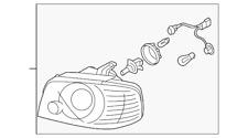Genuine Headlight Assembly Part# 92102-3C550 for Kia Optima 2003 Kia Optima 2004