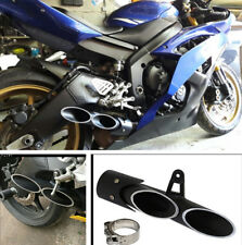 Motorcycle 38-51mm Exhaust Pipe Dual-outlet Stainless Steel Left Side Modified