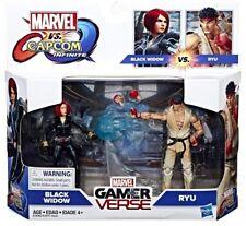 "Marvel Gamerverse MARVEL vs. CAPCOM Black Widow and Ryu 3.75"" Figures NIB/Sealed"