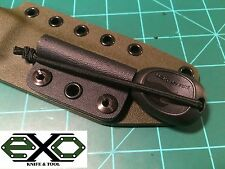 "Kydex Sheath Attachment for LMF, Army 2.0 Fire Starter, Ferro Rod, 3/8"" Dia."