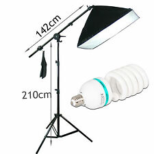 Photography Studio Shooting Boom Softbox Lighting Photo Soft Box Light Stand Kit