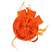 Womens Cocktail Bridal Feather Fascinator 1920s   Pillbox Hat Hair Clip