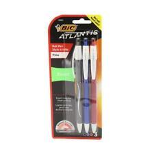 Bic Atlantis Exact Retractable Ballpoint Pens Fine Point 07mm Assorted Ink 3 Ct