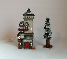 "Dept 56 North Pole Series ""Post Office"" 1992 & BONUS 8"" Pole Pine Tree"