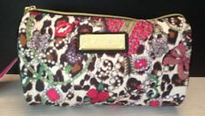 Betsey Johnson Junk in the Trunk Cylinder Cheetah Make-up Cosmetic Bag NWT