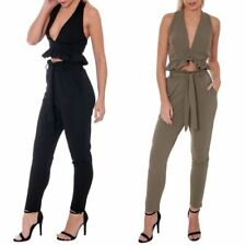 Black Polyester Tapered Women's Trousers