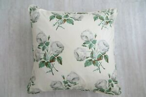 """COLEFAX AND FOWLER FABRIC CUSHION COVER """"Bowood""""  PIPED 18"""" x18"""" 100% COTTON"""
