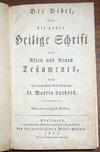 BIBLE - Bibel 1837 Allemagne Martin Luthers