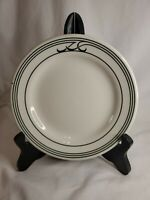 VINTAGE Homer laughlin restaurant ware bread plate 6 in  green and ivory ZA11