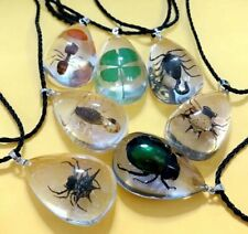 28pc wholesale lots insect ant clover scorpion spider clear pendant&necklace c8