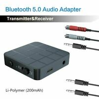 Bluetooth 5.0 Wireless Audio Transmitter Receiver Adapter 2 AUX Audio Music E2V1