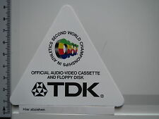 Aufkleber Sticker -TDK - HiFi - Stereo - Audio - Video - Floppy (1606)
