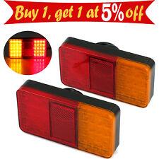 Pair 40LED Tail Lights Trailer Caravan Truck Brake Reverse Stop Indicator 12V