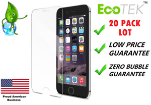 20x Lot Tempered Glass Screen Protector for Apple iPhone 12 11 Xs MAX 5 8 7 Plus