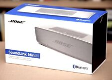 New Bose SoundLink Mini II Wireless Bluetooth Speaker pour Téléphone Portable Argent/Perle