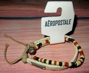MENS AEROPOSTALE SET OF TWO BRACELETS