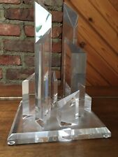 lucite Skyline Sculpture-Excellent Condition