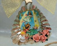 Tart Tin Diorama Christmas Ornament Handmade with Vintage & Supply Items ANGEL ~