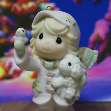 Bisque Porcelain Figurine The World Is In Our Hands Enesco 2000 Collectible