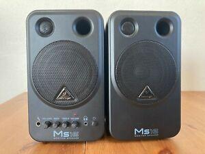 BEHRINGER MS16 MONITOR SPEAKERS Active 16 Watt Stereo Studio EX CONDITION