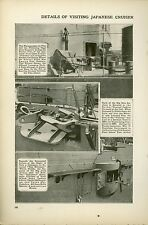 1920 Magazine Article Japanese First Class Cruiser Yakumo Visits Los Angeles