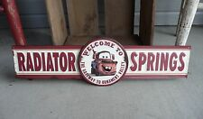 Disney CARS Tow Truck MATER Welcome to Radiator Springs 3D Embossed Metal Sign