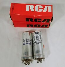 Vintage RCA And Teapo 3 Section Electolytic Capacitor 140664 Lot of 2 TV Radio