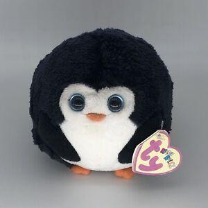 Ty Round Penguin Avalanche Beanie Babies Ballz Balls Cute Cuddly Toy Soft