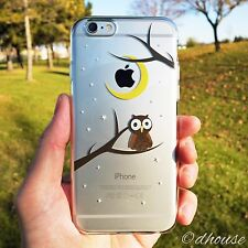 MADE IN JAPAN Soft Clear TPU Case Cute Owl design for iPhone 6 & iPhone 6s